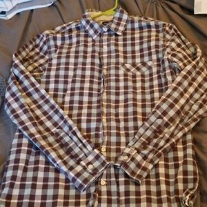 Plaid men's button down